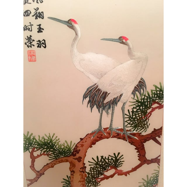Silk Embroidered Chinoiserie Panels - Pair - Image 6 of 10