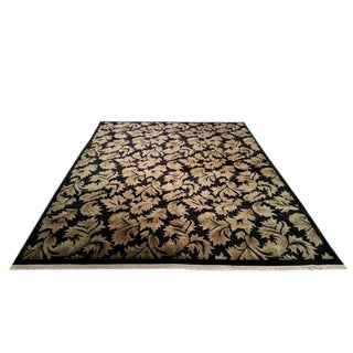 Modern Nepal Hand Made Knotted Rug - 9′ × 12′