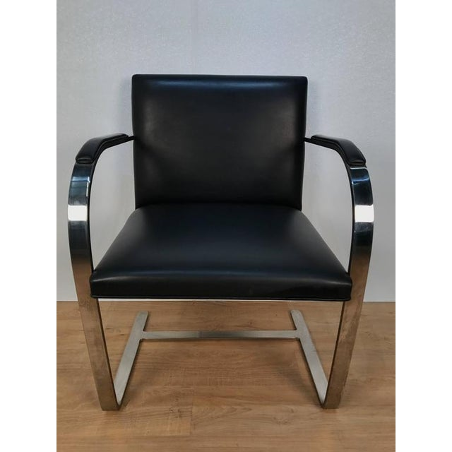 Pair of Knoll Chrome Plated Steel Brno Armchairs, With Leather Seats - Image 2 of 6