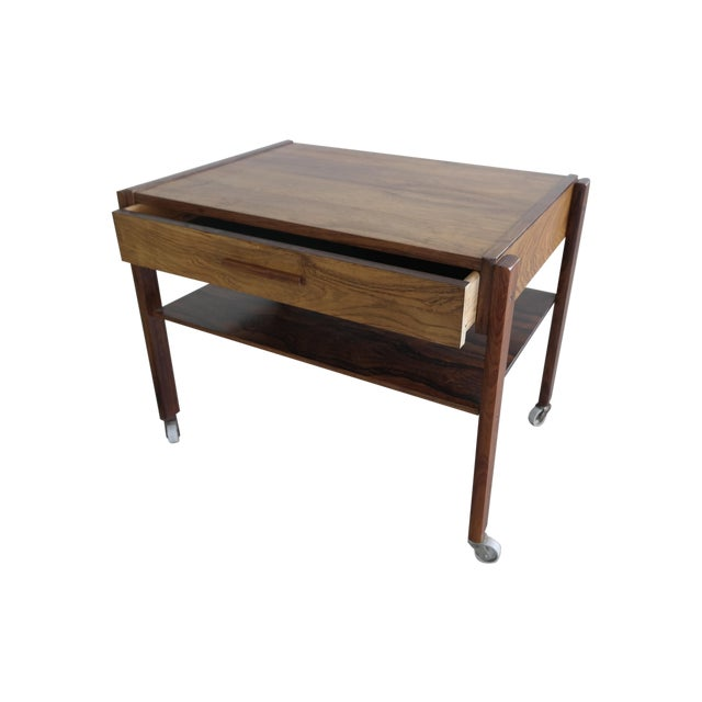 Mid-Century Rosewood Danish Sewing Table - Image 1 of 7