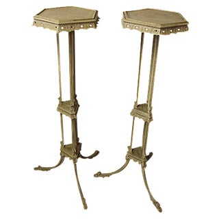 George III Style Torchiere Stands - A Pair