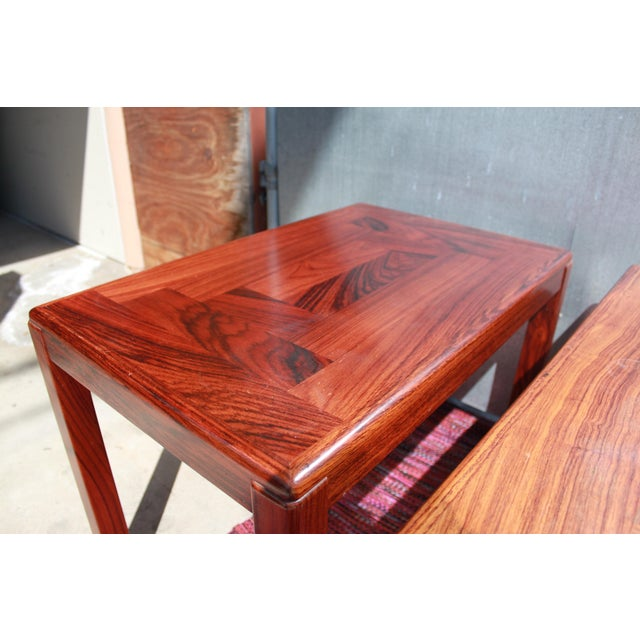 1960s Danish Rosewood Coffee & End Tables - Set of 3 - Image 9 of 10