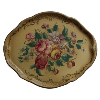Gold Painted Tole Tray