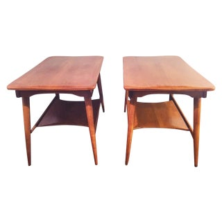 Danish Midcentury Modern Cushman End Tables - Pair