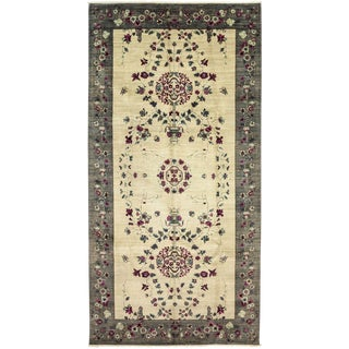 """Suzani, Hand Knotted Area Rug - 6' 1"""" x 11' 8"""""""