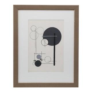 Framed Bauhaus Painting