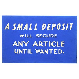 Small Deposit Store Sign