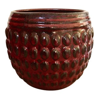 Deep Red Hobnail Planter