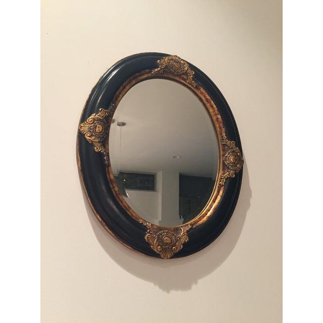 Beveled Black & Gilded Mirror - Image 3 of 8