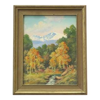 Willard Page Rocky Mountain Scene Painting