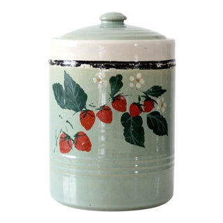 vintage USA pottery cookie jar