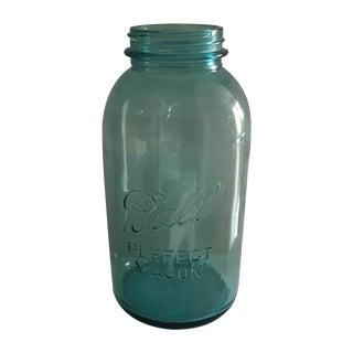 Vintage Blue Glass Ball Mason Jar