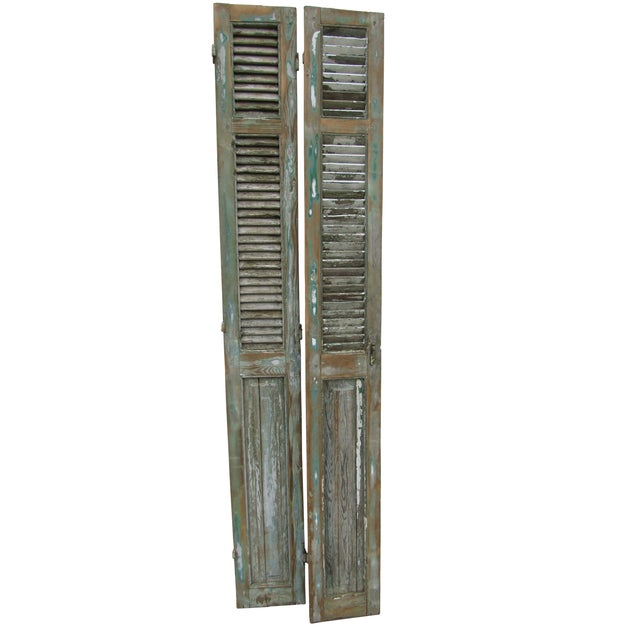 Rustic French Shutters- A Pair - Image 1 of 8