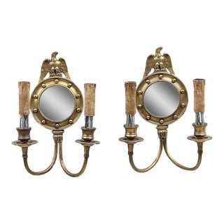 Two-Light Eagle Motif Sconces - A Pair