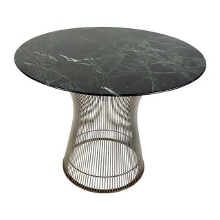 Warren Platner for Knoll Green Marble Top Table