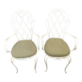 Vintage Iron Chairs - A Pair