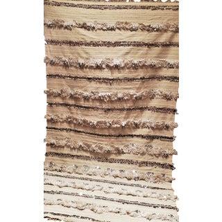 """Sequined Moroccan Handira Wedding Blanket - 101.5"""" X 56"""""""