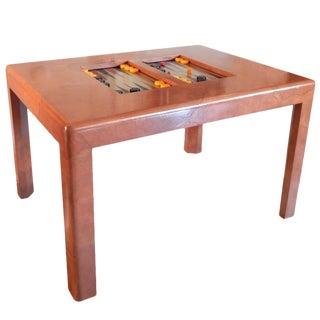 Karl Springer Goatskin Backgammon Table