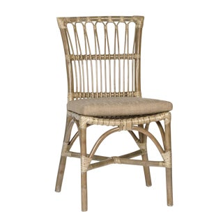 Rattan Side Chair With Cushion