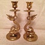 Image of Brass Koi Candlesticks - A Pair