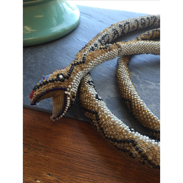 Antique Turkish Beaded Snake - Image 5 of 5