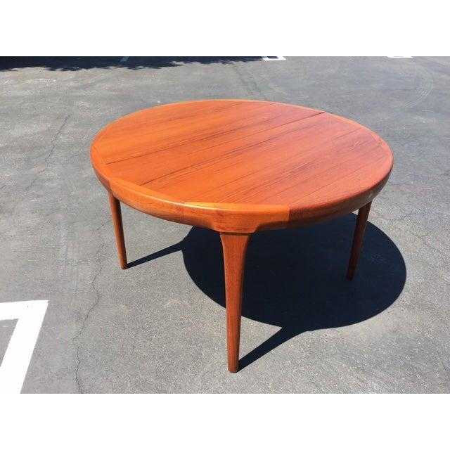 Image of Johannes Andersen Danish Modern Teak Dining Table