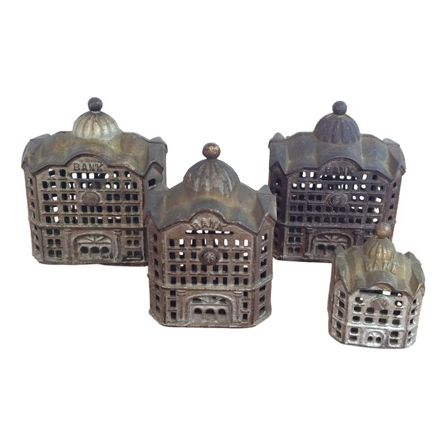 Antique Cast Iron Banks - Set of 4 - Image 1 of 8