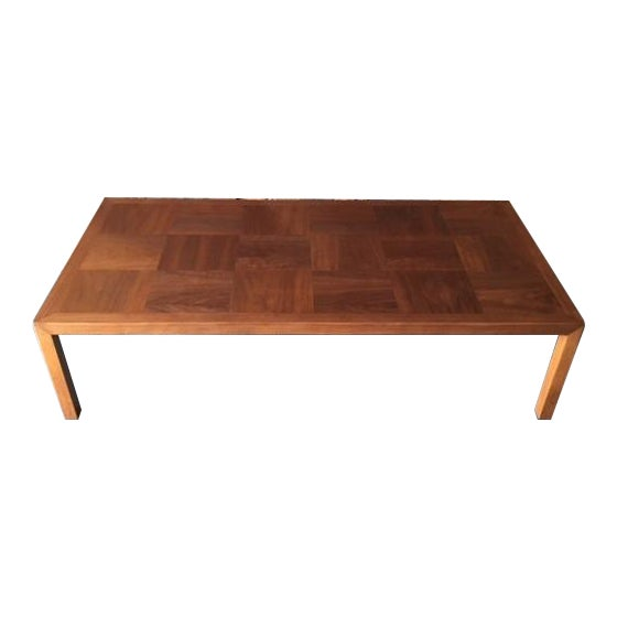 Mid-Century Refinished Parsons Style Coffee Table