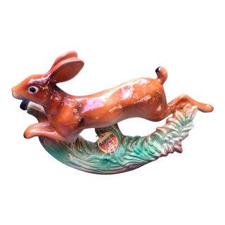 French Ceramic Rabbit Decanter
