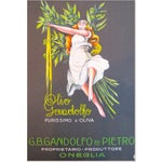 Image of 1920s Italian Olive Oil Advertisement - Sign