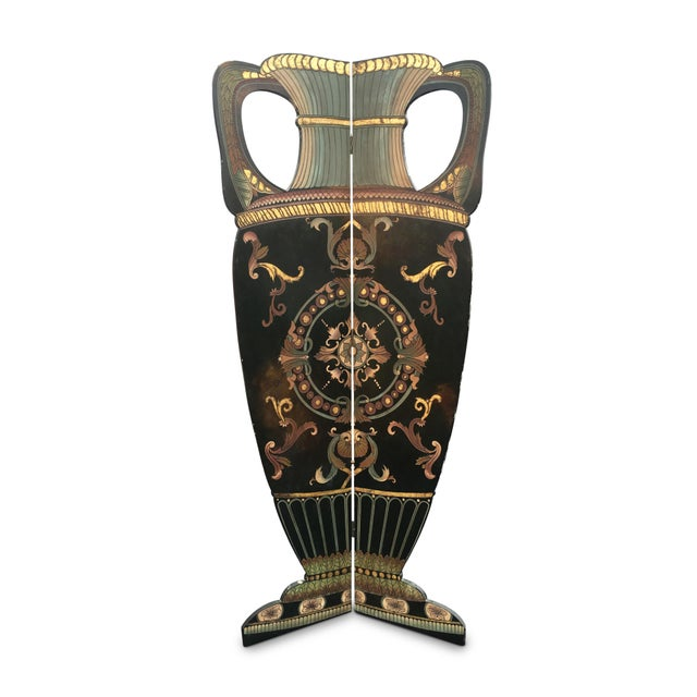 Vintage Art Deco Hand Painted Screen - Image 1 of 10