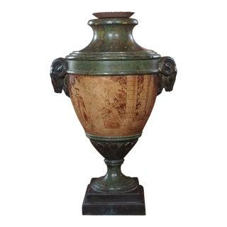 Italian Painted Urn Lamp