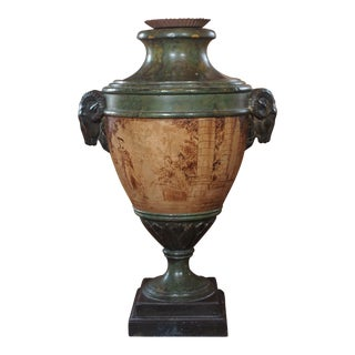 Italian Painted Urn Lamp