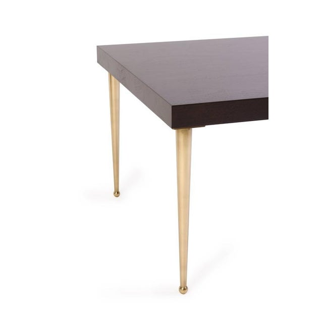 Image of Allister Tables in Ebony Walnut and Turned Brass by Montage