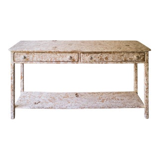 Pine White Crackle Buffet Table