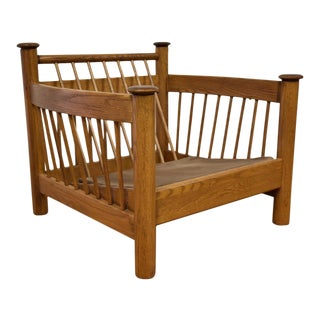 Modern Oak Lounge Chair