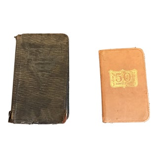 Vintage Black & Tan Books - A Pair