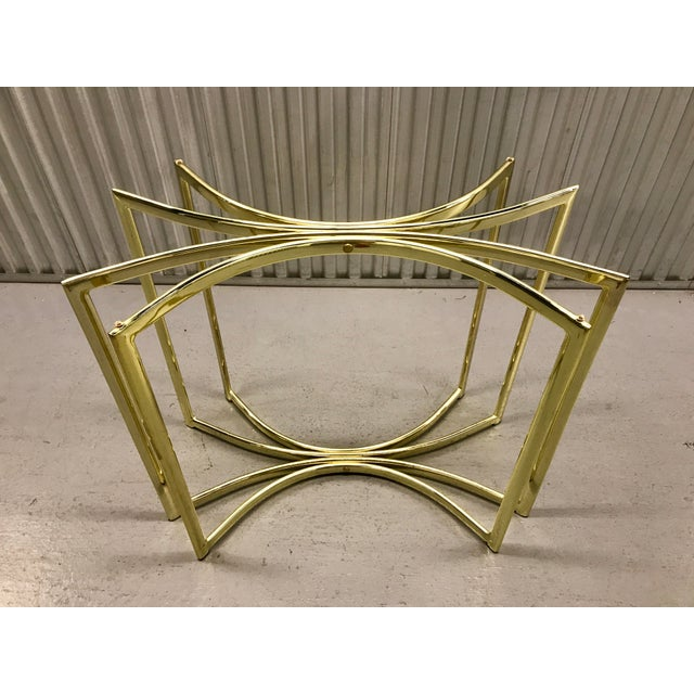 Image of Hollywood Regency Brass Table Base