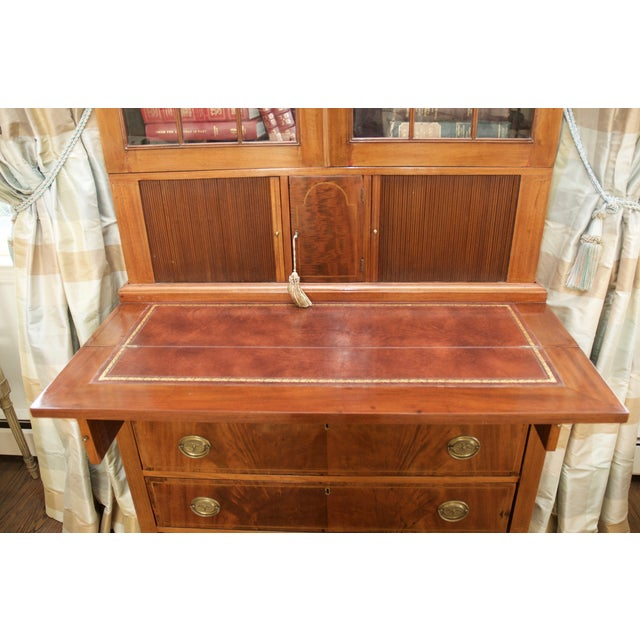 Antique Federal Style Mahogany Secretary Desk - Image 5 of 10