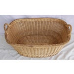 Image of Vintage French Oval Wicker Market Basket