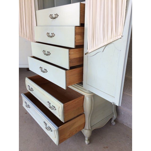 Hickory White French Provincial Armoire - Image 7 of 11