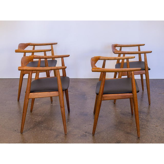 Image of Set of Four Wegner CH-35 Armchairs