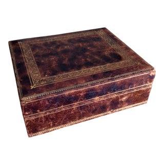 Vintage Italian Embossed Leather Box