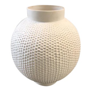 Vintage Sculptural Large Textured Ceramic Vase