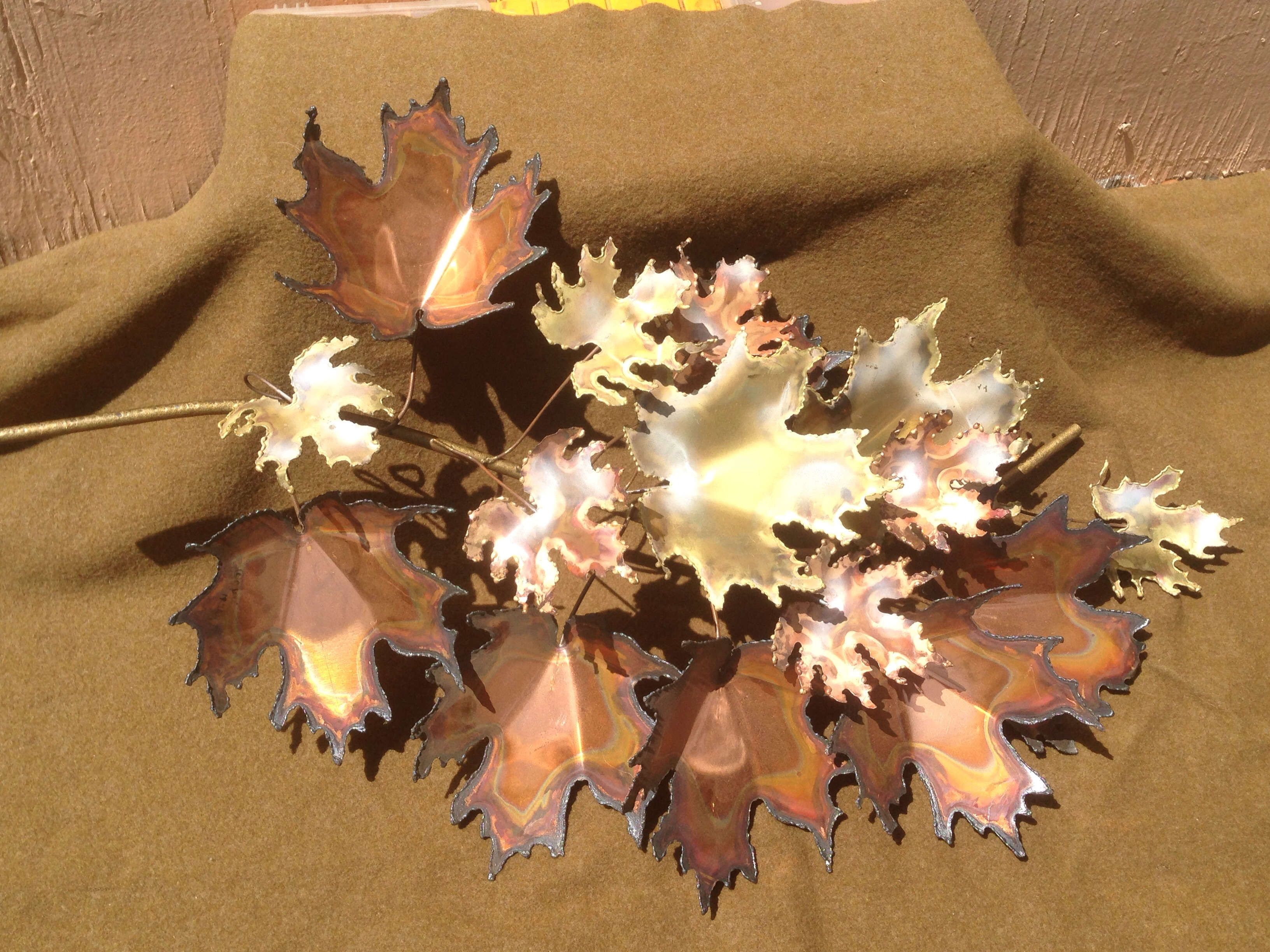 curtis jere maple leaf metal wall sculpture image 2 of 7