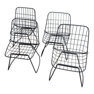 Mid-Century Metal Folding Chairs - Set of 4