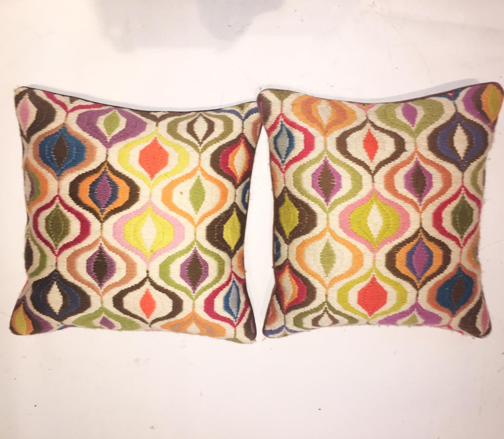 Jonathan Adler Bargello Wave Pillow Pair Chairish