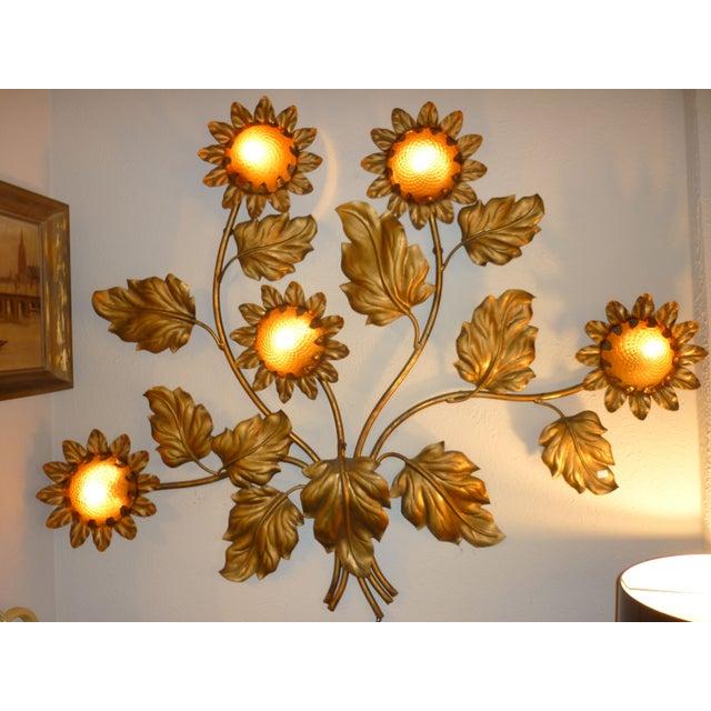 Palladio Sunflower Wall Light Fixture Chairish