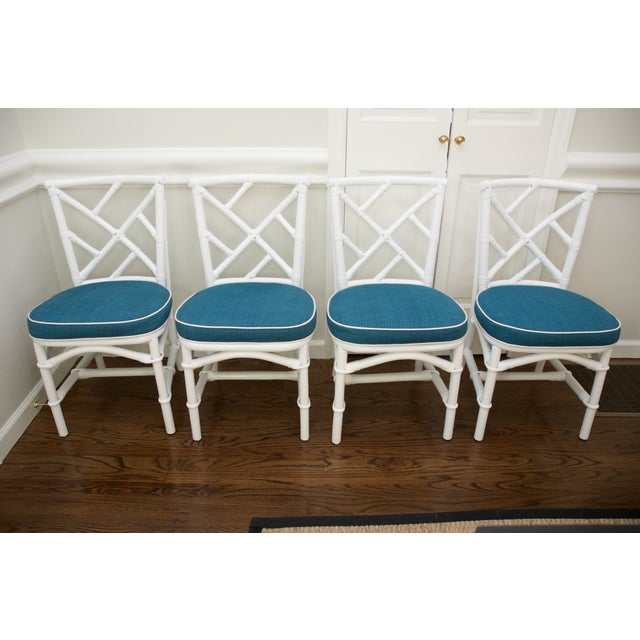 Refinished Ficks Reed Rattan Chairs - Set of 4 - Image 2 of 8