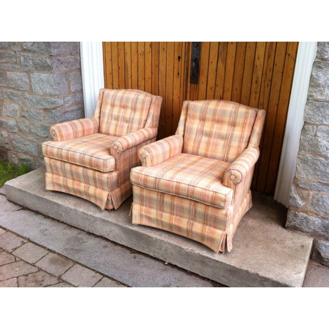 Vintage Ethan Allen Club Chairs - A Pair - Image 3 of 8